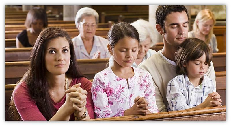 mense in die kerk