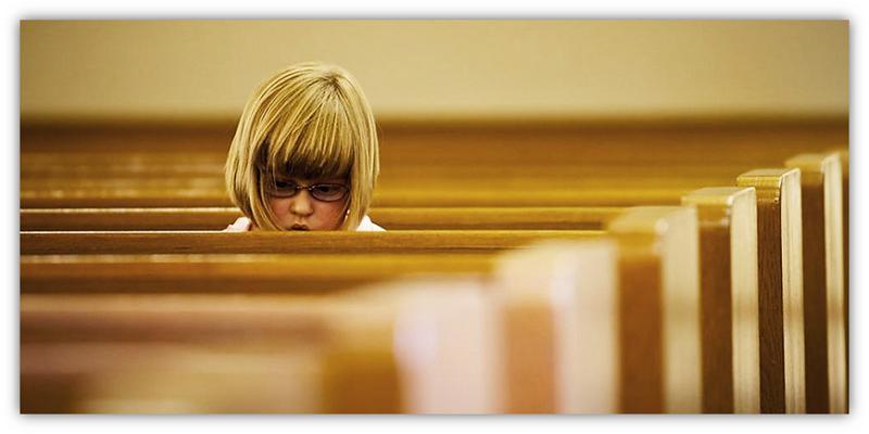 Alleen in die kerk