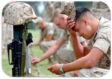 soldaat wat huil