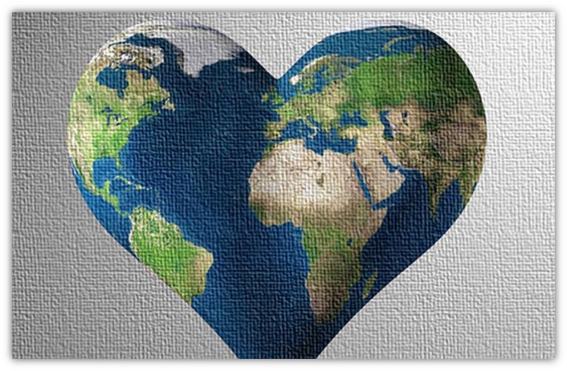hartvormige wêreld
