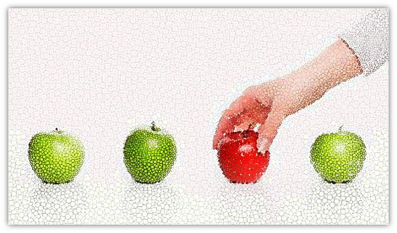 gekleurde appels