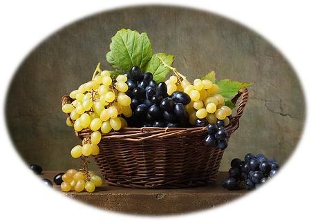 mandjie met druiwe