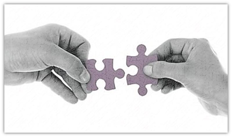 twee puzzel stukkies