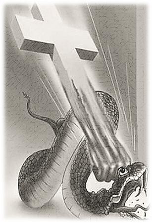 satan en kruis