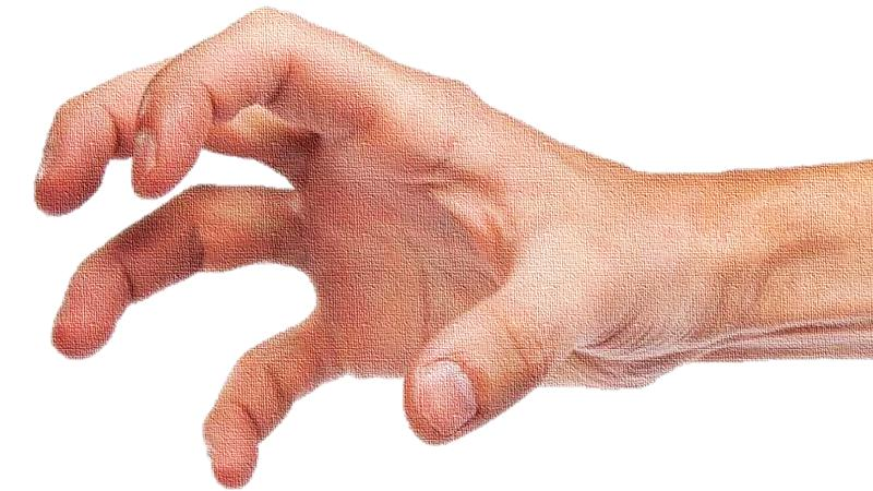 grypende hand