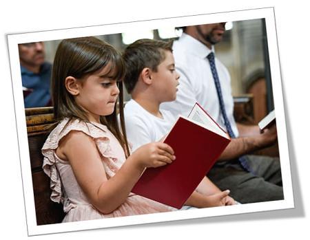 kinders in die kerk
