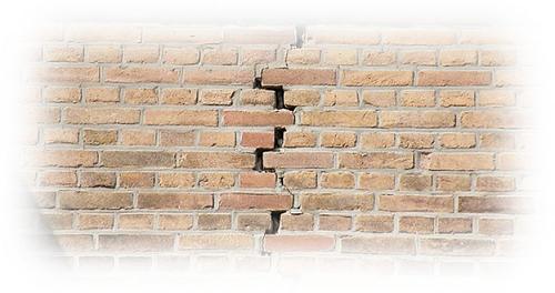 skeur in muur