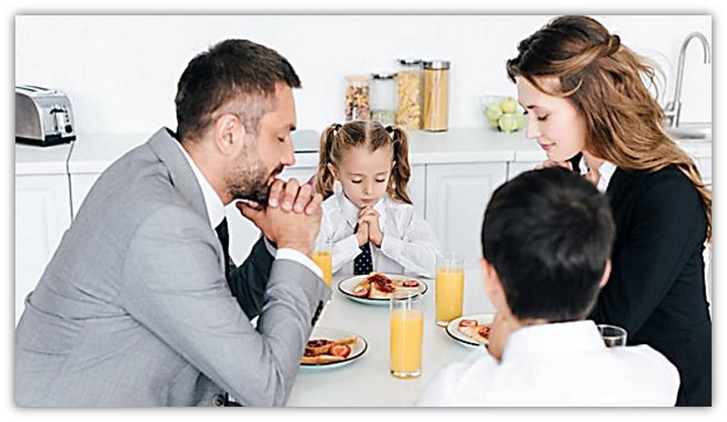gebed aan tafel