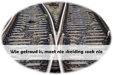 skeiding in treinspoor