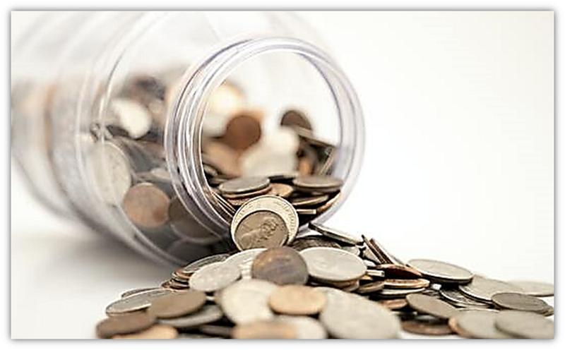 bottel met geld