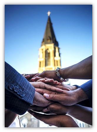 hande en kerk