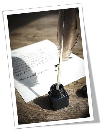 skryf met veer