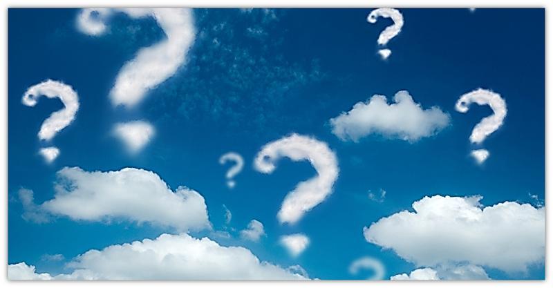 vraagtekens in hemel
